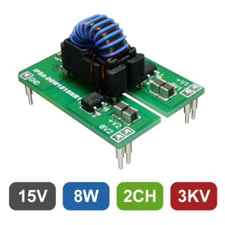 Isolated 2-Channel 8W DC/DC Converter for Gate Drive Applications