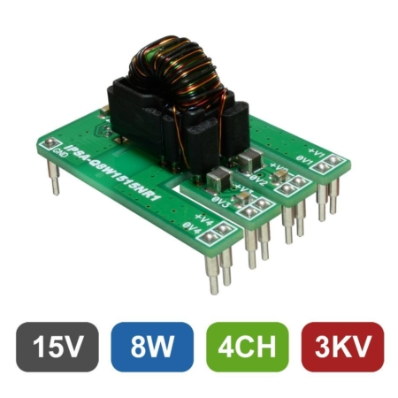 Isolated 4-Channel 8W DC/DC Converter for Gate Drive Applications