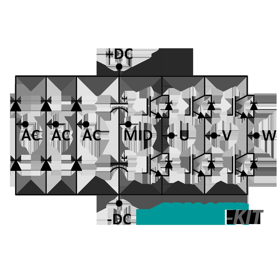 SPM-VFD-KIT 3 Phase Inverter Power Module with Gate Driver