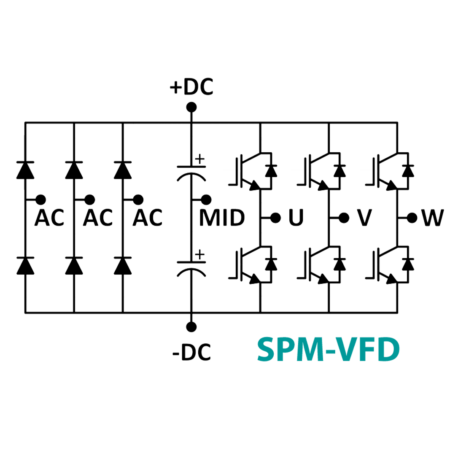 Circuit diagram of Variable Frequency Drive (VFD)
