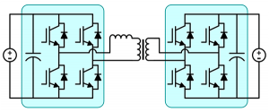 Dual Actve Bridge DAB Application Example using SPM-FB Full Bridge Development Board