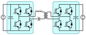 Resonant LLC converter using full bridge kit blocks