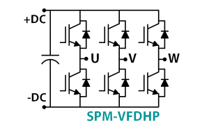 SPM-VFDHP 40kW 3 Phase Inverter Stack Schematic