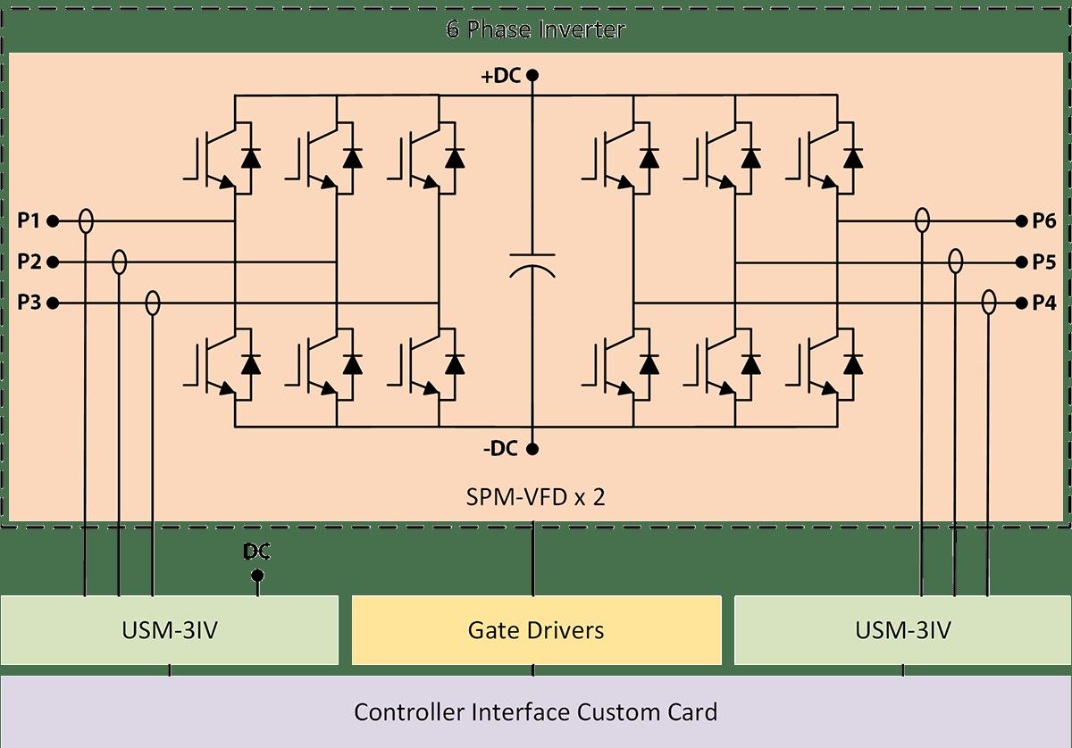 6 Phase Inverter System Schematic